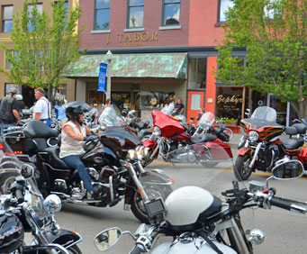 Motorcycles and Lights Galore at the Branson Landing this Friday!