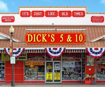Dick five and dime in branson