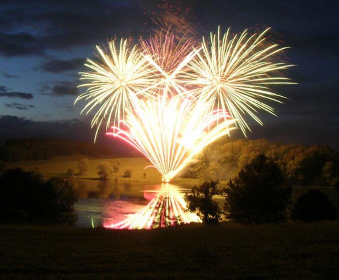 backyard fireworks displays