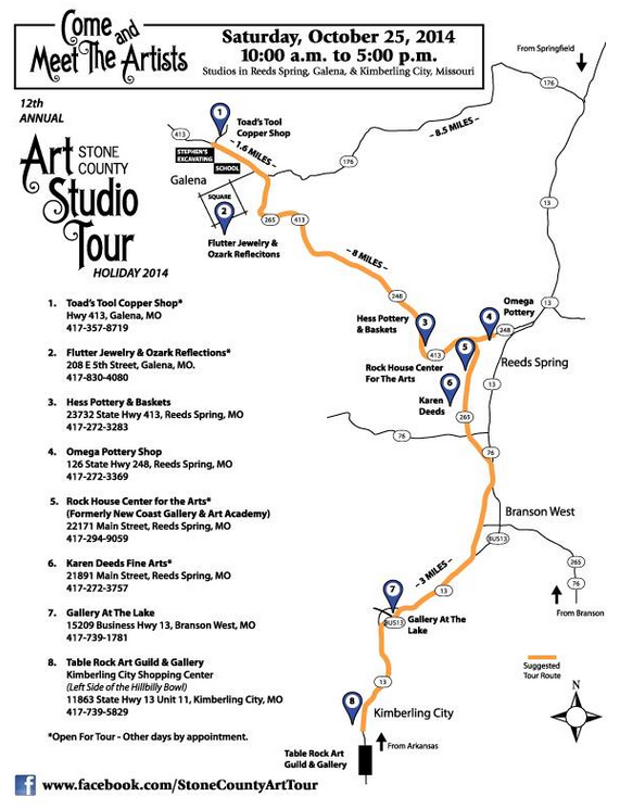 art tour map