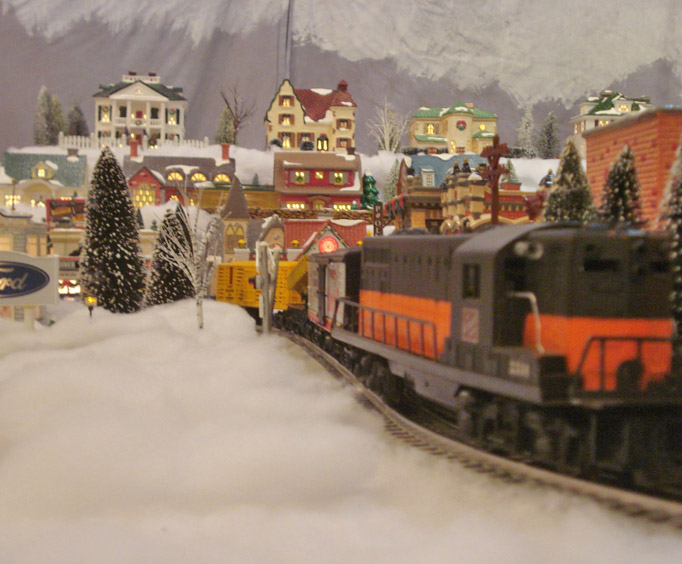 See Eureka Springs' Snow Train Village